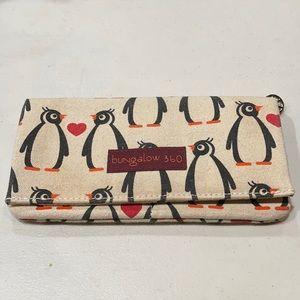 Bungalow 360 penguin canvas envelope wallet